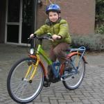 Bert op de fiets