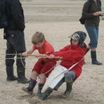 touwtje trekken met een vader