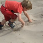 klimmen in het zand